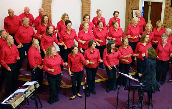 Group image of the choir singing