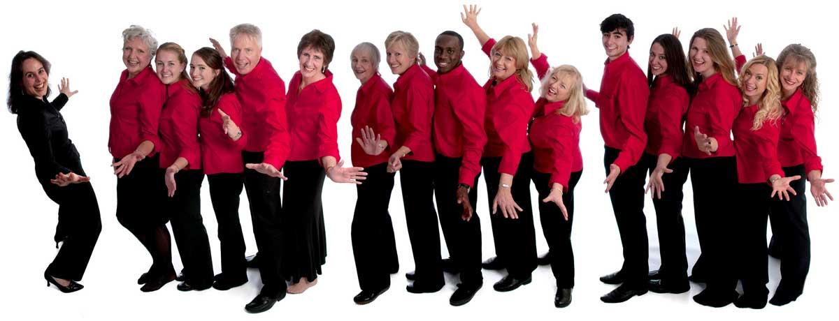 Group portrait of choir