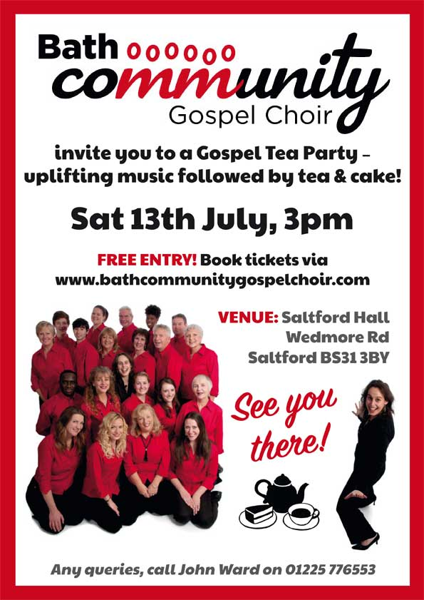 Bath Community Gospel Choir Salford Concert poster